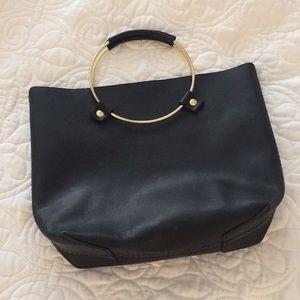 Handbags - Black leather O-Ring Bag